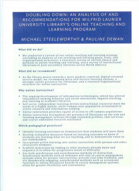 Laurier online teaching program 1