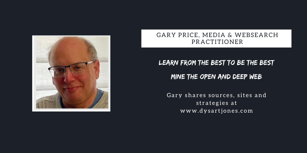 Gary Price:  June 2020 WebSearch Sources, Sites & Strategies